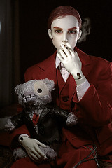 Rose are red and your dead (darkleynoone) Tags: red saint bjd pavel dollshe