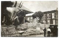 1907 Earthquake Damage, Kingston, Jamaica (The Caribbean Photo Archive) Tags: building earthquake kingston jamaica damage caribbean buggy 1907