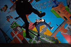 another shadow in the wall (Vulk.an) Tags: shadow wall torino interestingness flash skating ombra skaters explore skate portfolio turin strobe strobist valdofusi nov102008131 savevulkan