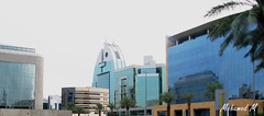 New glass lowrise buildings in Riyad... (-Mohamed-) Tags: city sky urban tower glass skyscraper al noir cloudy kingdom ciel saudi arabia nuage riyadh moder riyad nuageux urbanisation nakheel arabie anoud saoudite