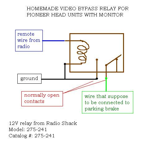 Diy Video Bypass Relay For Pioneer Head Units With Lcd Display 8th Generation Honda Civic Forum