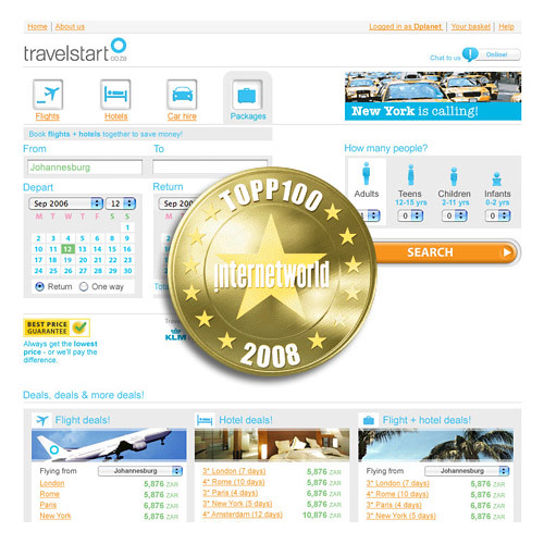 Travelstart.se voted 4th best website in Sweden!