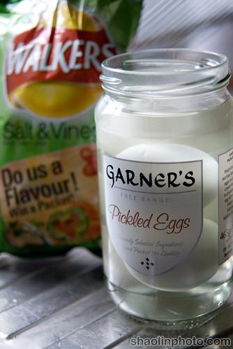 Pickled Eggs and Salt & Vinegar Crisps