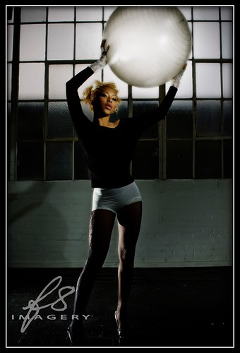 Asia Lynn and the glowing sphere