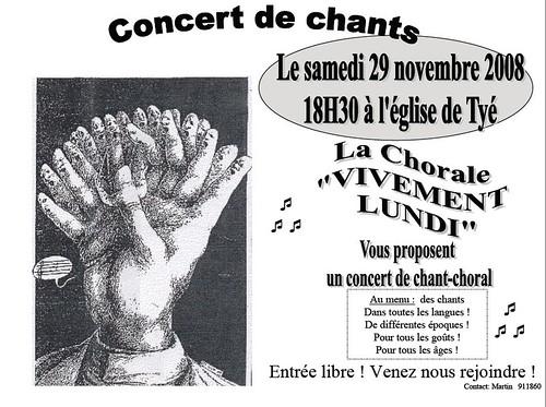 Concert à Tye 29 Novembre 2008