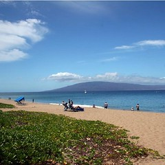 The beach and view from The Whaler in Ka'anapali.