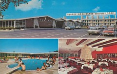 George Washington Motor Lodge - Allentown, Pennsylvania (The Pie Shops Collection) Tags: vintage parkinglot pennsylvania postcard motel allentown poolview motorlodge restaurantview georgewwashington triview