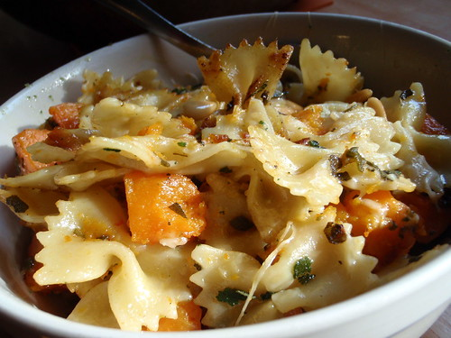 Pan-Fried Pasta with Butternut Squash, Fried Sage, and Pine Nuts