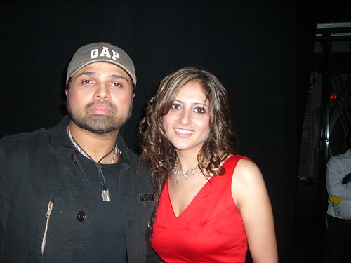 Himesh Reshimya bollywood singer with Miss Pakistan World 2006 Mariyah Moten