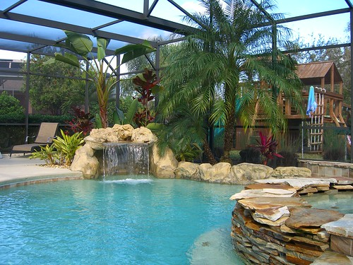 Resort Style Pool - Electric AND Solar Heated - Beach Area in Shallow End, Weeping Stone Heated Spa, Grotto with 4 foot Waterfall - GORGEOUS!!!