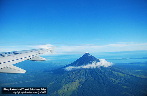Aerial view of Mt. Mayon