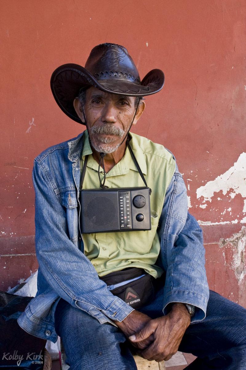 Newspaper Seller in Granada, Nicaragua
