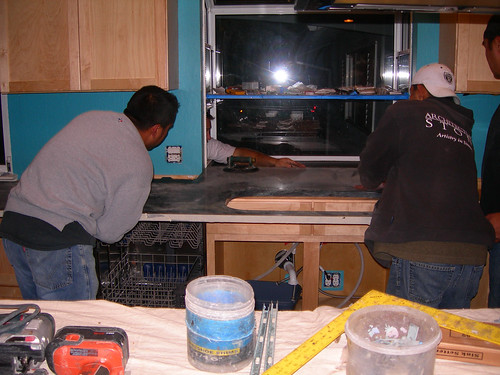 Soapstone Installation - Sink and Window