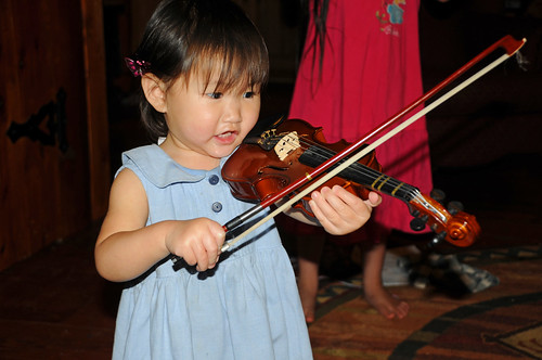 2 year old violin player by you.