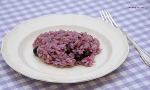 risotto ai mirtilli