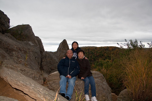 Danielle and Parents at the Rocky Overlook