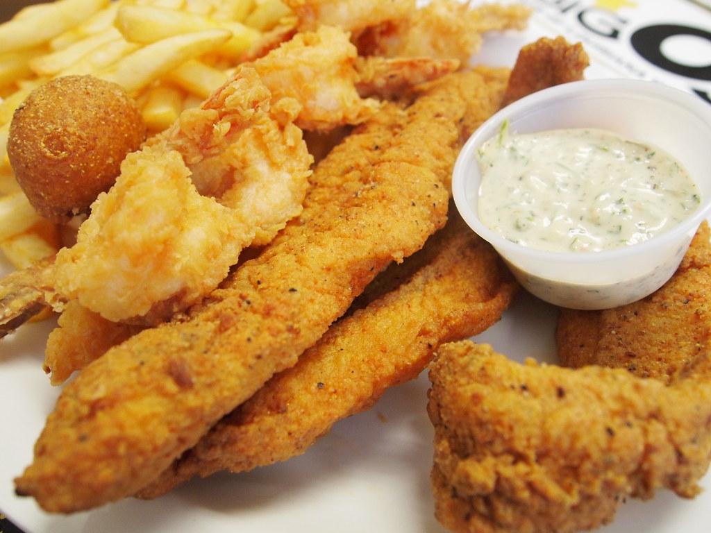 Fried shrimp and catfish at Big O's, Bos by Shreveport-Bossier: Louisiana