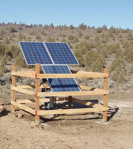 Design of Small Photovoltaic (PV) Solar-Powered Water Pump Systems (Photo Courtesy of NRCS)