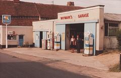 Whymark's Garage, Boxford, Suffolk 1980s (Spottedlaurel) Tags: suffolk national petrol boxford whymarksgarage
