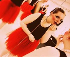 Lace so fine. (Mad Oak) Tags: ballet mirror ballerina shoes makeup tights pointe lipstick tutu leotard