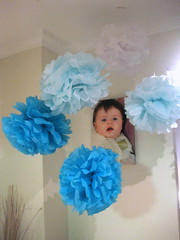 Paper Flowers for Ethans First Birthda