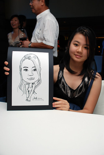 Caricature Christopher Tan 60th birtyhday party 3