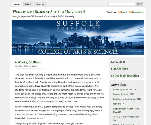 Image of Blogs at Suffulk University