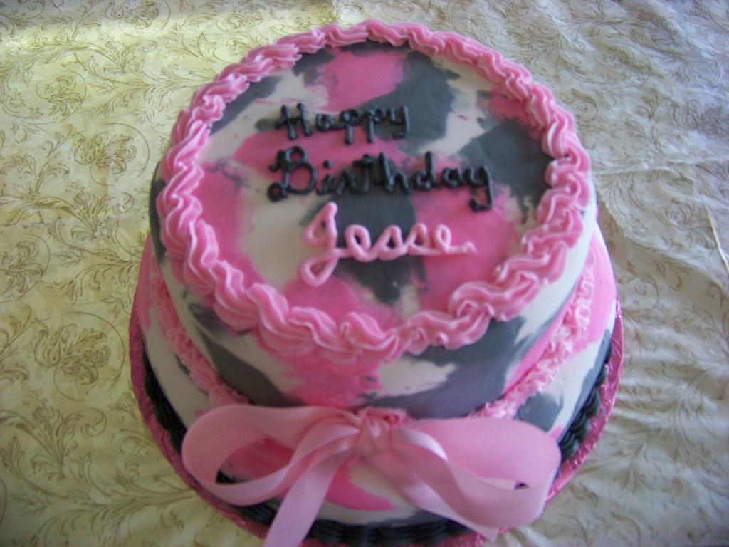 Pink Camo Birthday Cake Tc27jkw Tags Camouflage Fondant