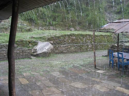 Rain and hail dampen Day 1