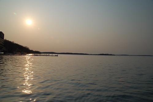 夕陽於夢多塔湖