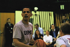 a moment of basketball during the campaign (by: Barack Obama, creative commons license)