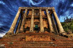 Temple of Antoninus and Faustina (dfworks) Tags: italy rome roma canon ancient hdr 30d 3xp photomatix sigma1020