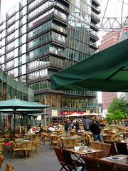 Berlin's showcase contemporary public space, the Sony Center (c2008, F. Kaid Benfield)