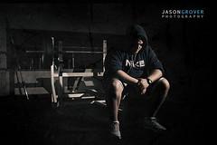 Big Jay (jasongrover.com) Tags: portrait mystery dark anger strength weightlifting workout gym weights lightroom bigjay strobist jasonmcclain jasongrovercom jasongroverca