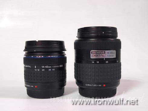 Zuiko Kit Lens 14-42mm and 14-45mm Comparison