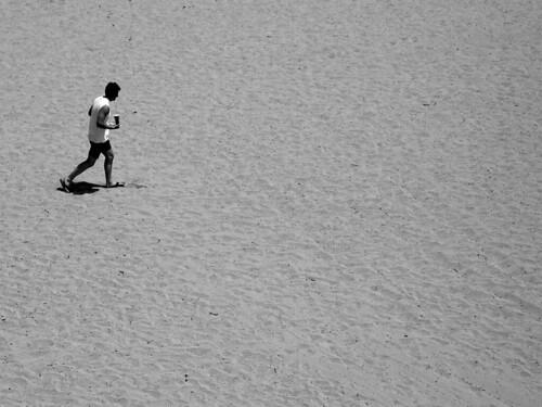 Man on Beach in Santa Cruz