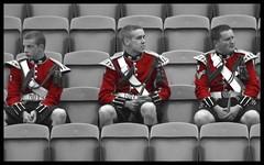 Watching Tattoo Rehearsal (FotoFling Scotland) Tags: red blackandwhite man male men castle fashion tattoo freedom scotland uniform edinburgh kilt edinburghcastle military scottish fav20 parade explore event international esplanade kilts pageant drummers tartan selective kilted sporran scotsman colorization worldclass militarytattoo selectivecolourisation kiltie fav10 edinburghmilitarytattoo edimburg kiltlad kiltedscotsman kiltedman tartankilt