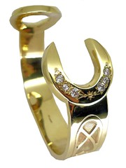 Bangle - 9ct Gold & Cubic Zirconia Spanner