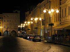 Night on right side (aGinger) Tags: old night square town czech main scene republik republika budjovice esk czeske nmstpemyslaotakaraii