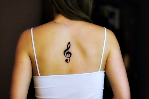 Treble Clef tattoo. I got my very first tattoo today.