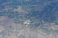 Iowa Flooding as seen from 35,000 Feet