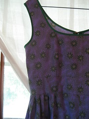 sundress - purple + green