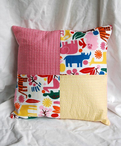 pretty zoo cushion