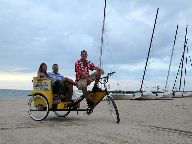 Ocean View Rickshaw on the Beach