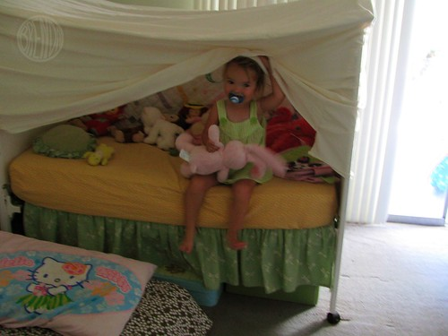 "BB in her ""tent"""