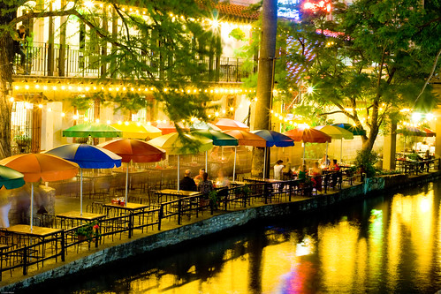 San Antonio, TX - River Walk at Night