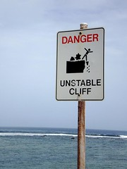 Unstable Cliff (tm-tm) Tags: sign australia signage westernaustralia warningsign oceania