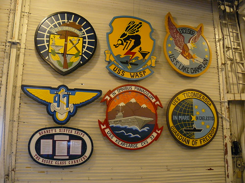 Emblems of some of the U.S.S. Hornet's Essex-class sister ships
