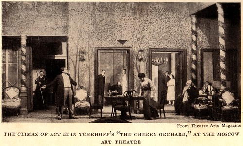 "The climax of Act III in Tchekhoff's ""The Cherry Orchard,"" at the Moscow Art Theatre"