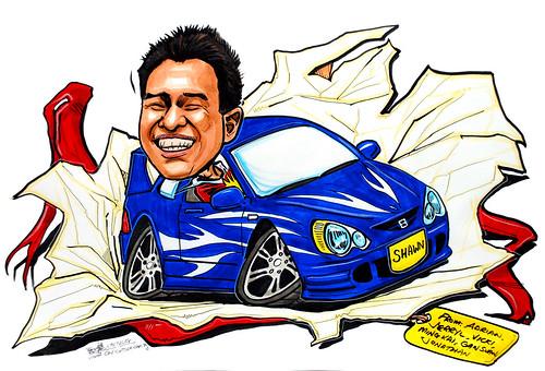 Caricature Honda Integra gift